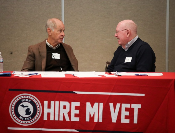The annual Hire MI Vet career fair, which aims to help military veterans and their families find meaningful employment, was held Nov. 5 in the Morris Lawrence Building. The event is a joint effort of Hire MI Vet and Washtenaw Community College with the assistance of rotary members.